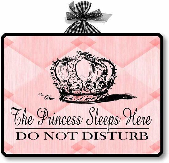 Princess Sleeps Here Wall Plaque Fairy Freckles Com