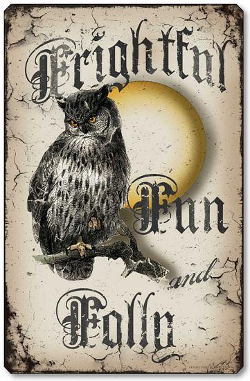Frightful Fun Amp Folly Owl Halloween Wall Plaque Fairy