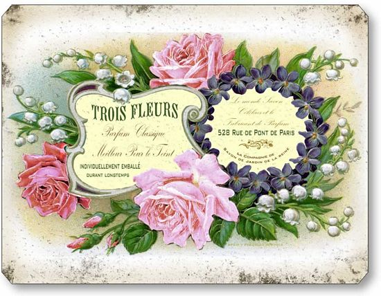 French Perfume Label Wall Plaque Fairy Freckles Com