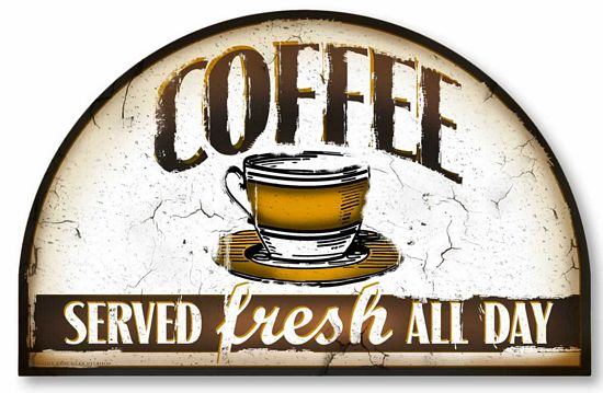 Vintage Style Coffee Sign Fairy Freckles Com