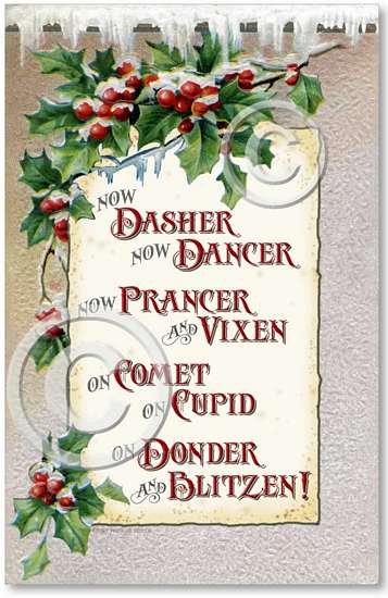 Item 1412 Victorian Christmas Reindeer Plaque