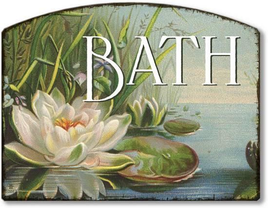 Item 3512 Water Lily Bath Plaque