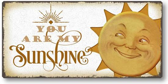 Item 5016 You Are My Sunshine Plaque