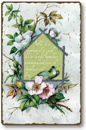 Item 67 Graceful Victorian Quotation Plaque