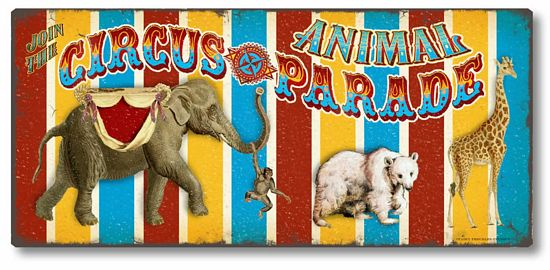 Item 7720 Vintage Style Circus Animal Plaque