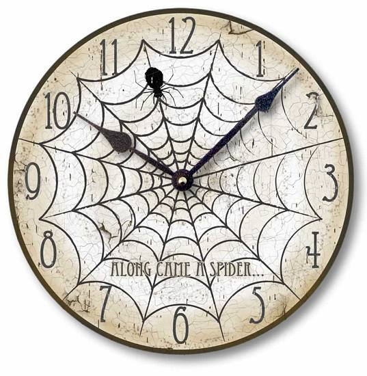 Item C1551 Halloween Spider Clock