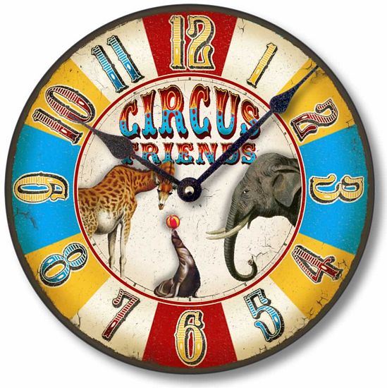 Item C1621 Antique Style Circus Clock
