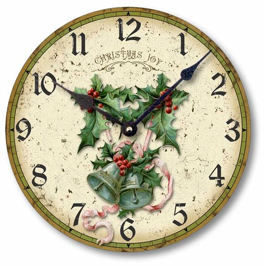 Item C2020 Holly and Bells Christmas Clock