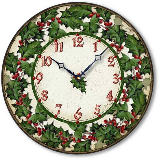 Item C2310 Christmas Holly Clock