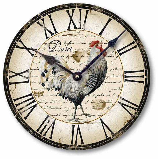 Item C5006 Country French Chicken Clock