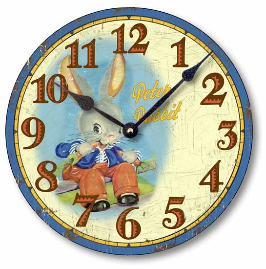Item C5022 Vintage Style Peter Rabbit Clock