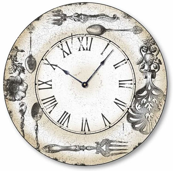 Antique Style Ornate Silver Clock Fairy Freckles Com