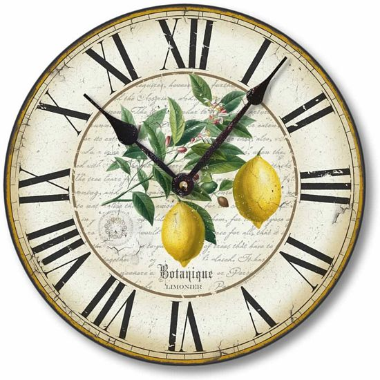 Antique Lemon Clock Fairy Freckles Com