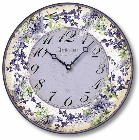 Purple Lilacs And Lavender Clock Fairy Freckles Com