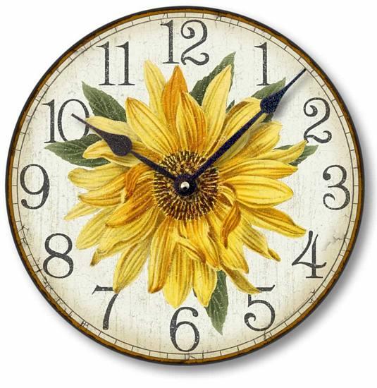 Item C8303 Vintage Style Sunflower Clock
