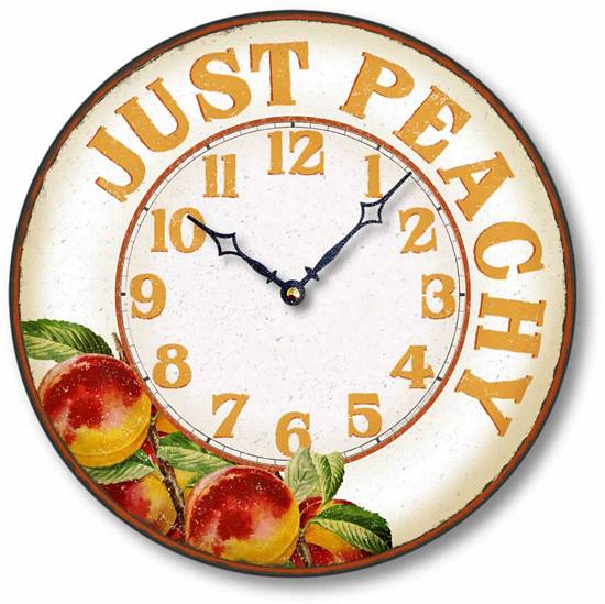 Item C8900 Casual Just Peachy Kitchen Clock