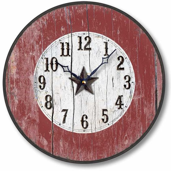 Western Barn Style Red Clock Fairy Freckles Com