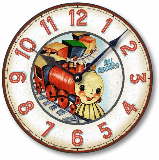 Item C9117 Classic Children's Train Clock