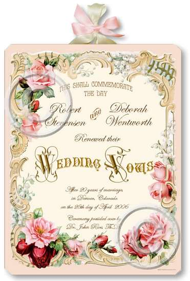 Vintage Marriage Certificate Plaque Fairy Freckles Com