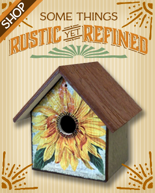 Fairy Freckles Studios Rustic yet Refined Signs and Birdhouses