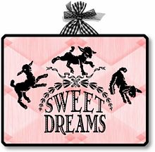 Item 09081 Pink Sweet Dreams Sign Plaque