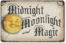 Item 10013 Midnight Moonlight & Magic Halloween Plaque