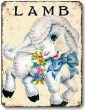Item 10103 Vintage Style Children's Little Lamb Plaque