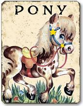 Item 10105 Vintage Style Children's Pony Plaque