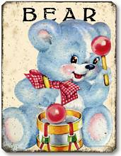Item 10106 Vintage Style Children's Teddy Bear Plaque