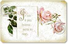 Item 102 Shabby Chic French Pink Roses Sign