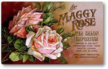 Item 105 Victorian Pink Rose Tea Room Sign