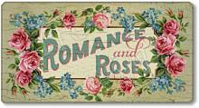 Item 106171 Vintage Style Romance and Roses Plaque