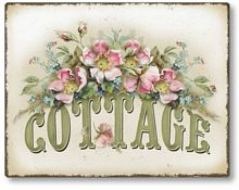 Item 1109 Vintage Style Rose Cottage Plaque
