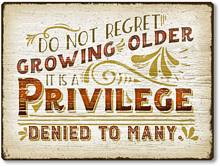 Item 1127 Growing Older Sentiment Plaque