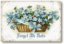 Item 112907 Forget Me Nots Plaque