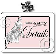 Item 1132 Pink Vintage Boudoir Beauty in Details Plaque