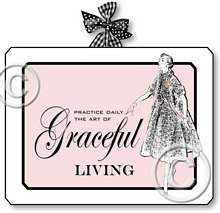 Item 1133 Vintage Boudoir Graceful Living Pink Plaque