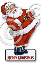 Item 12262 Santa Christmas Cut Out Plaque