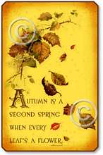 Item 140 Autumn Falling Leaves Plaque