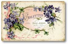 Item 1505 Violets Perfume Label Plaque