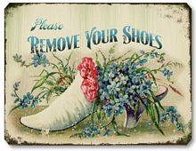 Item 1605 Victorian Style Remove Shoes Sign