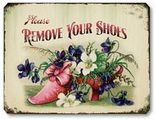 Item 1705 Remove Your Shoes Sign