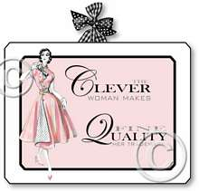 Item 2042 Pink 1950s Fashion Boudoir Plaque