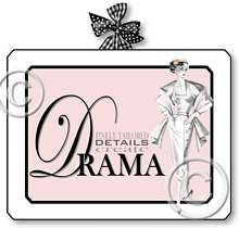 Item 2051 Pink Boudoir 1950s Style Fashion Plaque