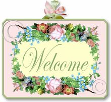 Item 2052 Pink Shabby Cottage Welcome Sign
