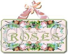 Item 2054 Smell the Roses Wall Plaque