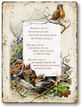 Item 252 Baby Robins Nest Bird Plaque