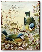 Item 254 Birds Nesting Plaque