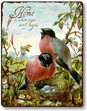 Item 255 Victorian Birds Nesting Plaque