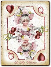 Item 3002 Playing Card Valentine Plaque